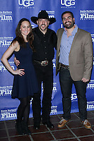 SANTA BARBARA, CA - JANUARY 31: Erin Krozek; Wade Earp, Matt Livadary at the 29th Santa Barbara International Film Festival - Outstanding Director Award Honoring David O. Russell held at Arlington Theatre on January 31, 2014 in Santa Barbara, California. (Photo by David Acosta/Celebrity Monitor)