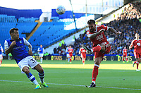Danny Fox of Nottingham Forest wins the ball against Ross Wallace of Sheffield Wednesday during the Sky Bet Championship match between Sheffield Wednesday and Nottingham Forest at Hillsborough, Sheffield, England on 9 September 2017. Photo by Leila Coker / PRiME Media Images.