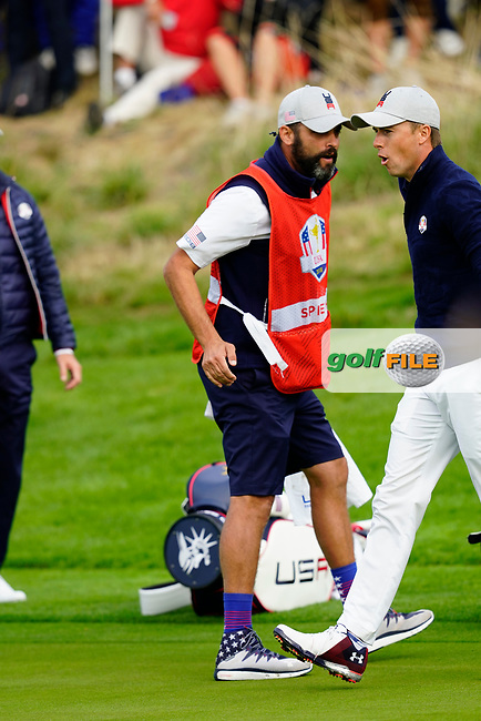 Jordan Spieth (Team USA) on the 7th during the friday fourballs at the Ryder Cup, Le Golf National, Iles-de-France, France. 27/09/2018.<br /> Picture Fran Caffrey / Golffile.ie<br /> <br /> All photo usage must carry mandatory copyright credit (© Golffile | Fran Caffrey)