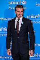 NEW YORK, NY, 12.12.2016 - ONU-UNICEF - O ex jogador de futebol o inglês David Beckham atende fotógrafos durante tapete vermelho do 70º aniversário da UNICEF (Fundo das Nações Unidas para a Infância) na sede da Nações Unidas em New York os Estados Unidos nesta segunda-feira, 12. (Foto: Vanessa Carvalho/Brazil Photo Press)