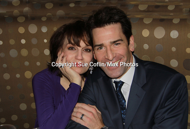 Opening Night after party - Boeing-Boeing starring One Life To Live Matt Walton (Benard) who poses with castmate Beth Leavel on January 22, 2012 at the Paper Mill Playhouse, Millburn, New Jersey. (Photo by Sue Coflin/Max Photos)