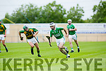 Ballyduff's Jack Goulding gets away from Kilmoyley's Sean Nolan  in the County Championship Hurling Round 1 Kilmoyley  against Ballyduff at Abbeydorney GAA ground on Sunday