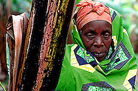 Gyseni / Rwanda 2003.<br /> Population living in the area of Kivu Lake near RDC border.In the picture one of the poor and abandoned  women affected by HIV supported by Ngo Caritas.<br /> Photo Livio Senigalliesi.