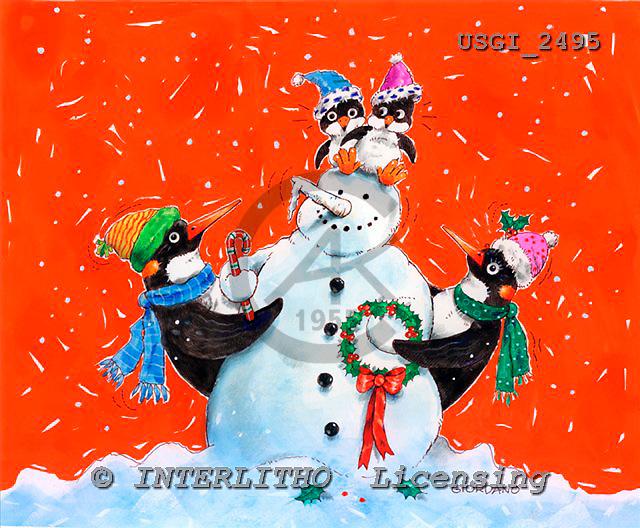 GIORDANO, CHRISTMAS ANIMALS, WEIHNACHTEN TIERE, NAVIDAD ANIMALES, paintings+++++,USGI2495,#XA#