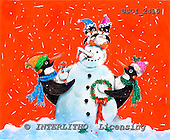 GIORDANO, CHRISTMAS ANIMALS, WEIHNACHTEN TIERE, NAVIDAD ANIMALES, paintings+++++,USGI2495,#XA#