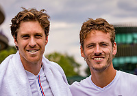 London, England, 8 July, 2019, Tennis,  Wimbledon, Men's doubles Wesley Koolhof and Marcus Daniell (DEN) (L)<br /> Photo: Henk Koster/tennisimages.com