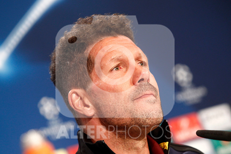 Atletico de Madrid's coach Diego Pablo Cholo Simeone in press conference. April 11, 2017.(ALTERPHOTOS/Acero)
