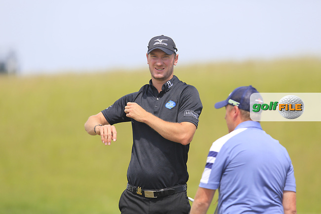 Chris Wood (ENG) during Wednesday's Practice Day of the 117th U.S. Open Championship 2017 held at Erin Hills, Erin, Wisconsin, USA. 14th June 2017.<br /> Picture: Eoin Clarke | Golffile<br /> <br /> <br /> All photos usage must carry mandatory copyright credit (&copy; Golffile | Eoin Clarke)