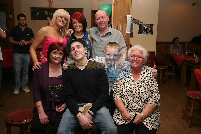 David Rogers with his family Gillian, Eleanor, Dylan, Tony, Carol and Alma at his 21st in The Rugby Club...Photo NEWSFILE/Jenny Matthews.(Photo credit should read Jenny Matthews/NEWSFILE)....This Picture has been sent you under the condtions enclosed by:.Newsfile Ltd..The Studio,.Millmount Abbey,.Drogheda,.Co Meath..Ireland..Tel: +353(0)41-9871240.Fax: +353(0)41-9871260.GSM: +353(0)86-2500958.email: pictures@newsfile.ie.www.newsfile.ie.FTP: 193.120.102.198.