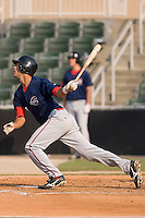 Will Vazquez (10) of the Greenville Drive follows through on his swing at Fieldcrest Cannon Stadium in Kannapolis, NC, Sunday August 10, 2008. (Photo by Brian Westerholt / Four Seam Images)