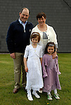 Moya Teeling clebrated Both her birthday and First Holy Communion  on Saturday. She is photographed with her parents Frank and Mary and little sister Maeve.
