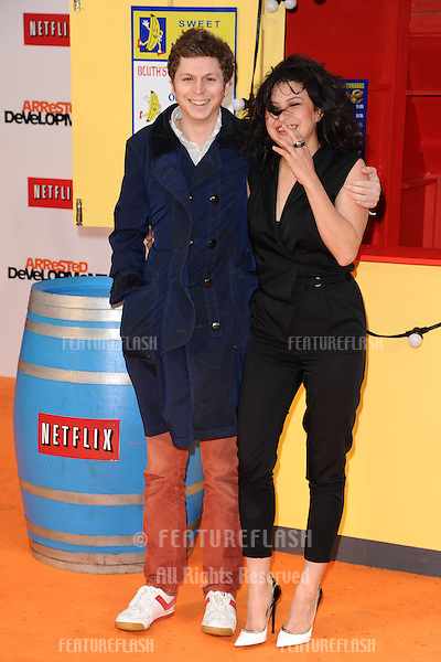 "Michael Cera and Alia Shawkat arriving for the ""Arrested Development"", Season Four  premiere at the Vue, Leicester Square, London. 09/05/2013 Picture by: Steve Vas / Featureflash"