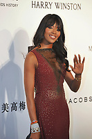 HONG KONG - MARCH 14:  Naomi Campbell arrives on the red carpet during the 2015 amfAR Hong Kong gala at Shaw Studios on March 14, 2015 in Hong Kong. Photo : Lucas Schifres/Abaca