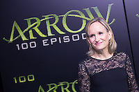VANCOUVER, BC - OCTOBER 22: Wendy Mericle at the 100th episode celebration for tv's Arrow at the Fairmont Pacific Rim Hotel in Vancouver, British Columbia on October 22, 2016. Credit: Michael Sean Lee/MediaPunch