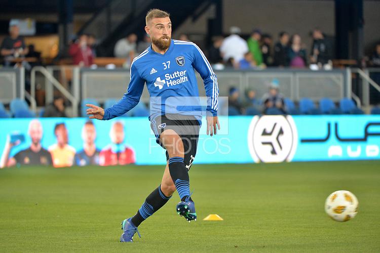 San Jose, CA - Saturday September 15, 2018: Guram Kashia prior to a Major League Soccer (MLS) match between the San Jose Earthquakes and Sporting Kansas City at Avaya Stadium.
