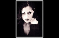 Oezlem - Album cover photo-shoot - Studio, Chiswick - 7th April 1999
