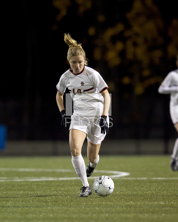 "Boston College forward Kristen Mewis (19). Boston College defeated West Virginia, 4-0, in NCAA tournament ""Sweet 16"" match at Newton Soccer Field, Newton, MA."
