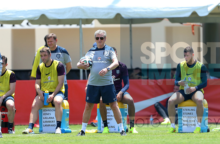 England's Roy Hodgson in action during training<br /> <br /> England Training &amp; Press Conference  - Barry University - Miami - USA - 06/06/2014  - Pic David Klein/Sportimage