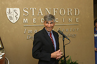 STANFORD, CA - June 27:  Photos of the Stanford Medicine Radiology Outpatient Imaging Center grand opening on Sherman Ave. on June 27, 2008 in Palo Alto, California. Pictured is the Carl and Elizabeth Naumann<br />