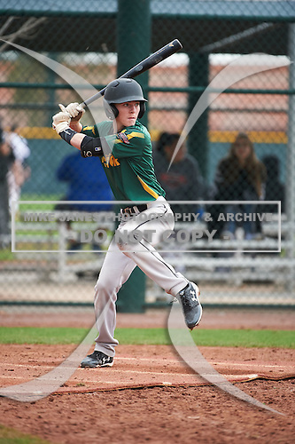 Derek Chavez (1) of Carson High School in Carson, California during the Under Armour All-American Pre-Season Tournament presented by Baseball Factory on January 15, 2017 at Sloan Park in Mesa, Arizona.  (Art Foxall/Mike Janes Photography)