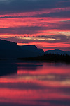 Orange sunrise at Rooster Rock in the Columbia River Gorge