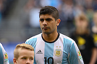 Seattle, WA - Tuesday June 14, 2016: Ever Banega during a Copa America Centenario Group D match between Argentina (ARG) and Bolivia (BOL) at CenturyLink Field.