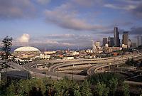 AJ3671, Seattle, skyline, Washington, View of the city of Seattle in the state of Washington.