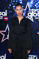 Raye<br /> arriving for the Global Awards 2019 at the Hammersmith Apollo, London<br /> <br /> ©Ash Knotek  D3486  07/03/2019