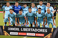 MEDELLIN - COLOMBIA, 24-04-2018: Los jugadores de Bolívar, posan para una foto, durante partido de la de la fase de grupos, grupo B, fecha 4, entre Atlético Nacional y Bolívar (BOL), por la Copa Conmebol Libertadores 2018, en el Estadio Atanasio Girardot, de la ciudad de Medellin./ The players of Bolivar, pose for a photo, during a match for the group stage, group B of the 4th date, between Atletico Nacional (COL) and Bolivar (BOL), for the Conmebol Libertadores Cup 2018, at the Atanasio Girardot, Stadium, in Medellin city. Photo: VizzorImage / Leon Monsalve / Cont.