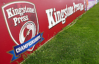 PICTURE BY VAUGHN RIDLEY/SWPIX.COM - Rugby League - 2013 International Origin - England v Exiles - Halliwell Jones Stadium, Warrington, England - 14/06/13 - Kingstone Press Cider boards.