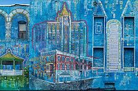 Wall mural depicting downtown Rutland, Vermont, USA.