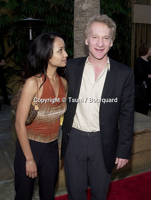 Bill Maher and Thi Lieu arriving  at the premiere of  Angel Eyes at the Egyptian Theatre in Los Angeles  5/15/2001 © Tsuni          -            MaherBill_ThiLieu04.jpg