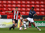 Jordan Doherty of Sheffield Utd tussles with Mahlon Romeo of Millwall during the U23 Professional Development League Two match at Bramall Lane Stadium, Sheffield. Picture date 18th August 2017. Picture credit should read: Simon Bellis/Sportimage