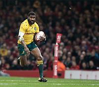 Australia's Marika Koroibete<br /> <br /> Photographer Simon King/CameraSport<br /> <br /> International Rugby Union - 2017 Under Armour Series Autumn Internationals - Wales v Australia - Saturday 11th November 2017 - Principality Stadium - Cardiff<br /> <br /> World Copyright &copy; 2017 CameraSport. All rights reserved. 43 Linden Ave. Countesthorpe. Leicester. England. LE8 5PG - Tel: +44 (0) 116 277 4147 - admin@camerasport.com - www.camerasport.com