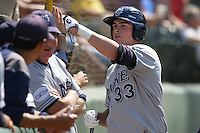 June 5, 2010:  Jordan Leyland of UC Irvine during NCAA Regional game against Kent State at Jackie Robinson Stadium in Los Angeles,CA.  Photo by Larry Goren/Four Seam Images