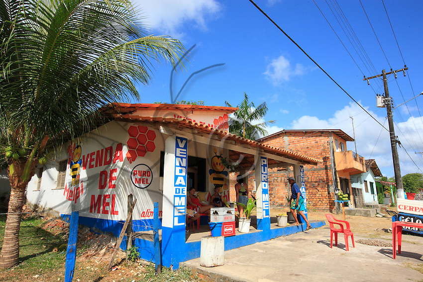 Brazil, State of Pará, São João de Pirabas. A shop selling honey along the state route attests to the importance of beekeeping in this region of replanted forests.