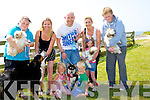DOG; Locals who entered their dogs into the Ballyheigue Summer Festival dog show on the Ballyheigue Green, in conjuction with the Ballyheigue Summer Festyival on Saturtday l-r: Angela Stack (Hazel the dog),Ben, Ciara and Niamh O'Connor (and their dog Rolo)Declan Sheehan (his dog Charlie),Trish and Ava Canty and Robert Stack (Pebbels the dog).