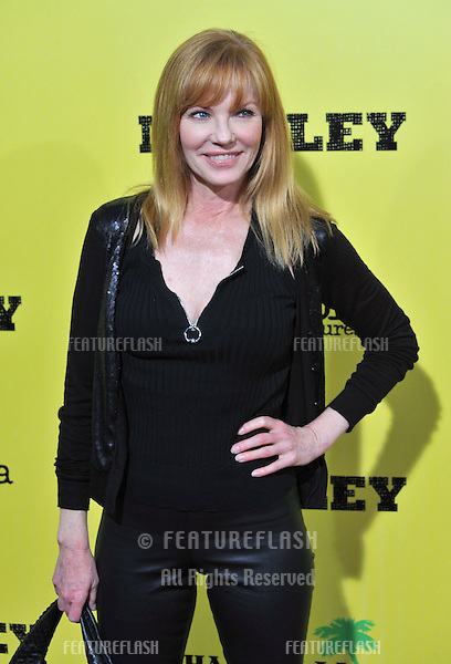 Marg Helgenberger at the Los Angeles premiere of Marley at the Cinerama Dome, Hollywood..April 17, 2012  Los Angeles, CA.Picture: Paul Smith / Featureflash