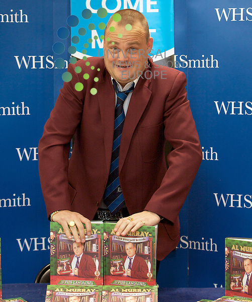 Britains Favourite Pub Landlord Al Murray Book Signing in Edinburgh...Al Murray Pub Landlord, signs coppies of His new book Think Yourself British. The book is a no nonsence, extremely funny, self help, common sense approach to being British as only Al Murray can deliver..At The Gyle Shopping Centre, Edinburgh today...Picture, Mark Davison/Universal News and Sport.