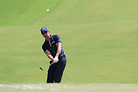 Henrik Stenson (SWE) chips onto the 1st green during Saturday's Round 3 of the 2017 PGA Championship held at Quail Hollow Golf Club, Charlotte, North Carolina, USA. 12th August 2017.<br /> Picture: Eoin Clarke | Golffile<br /> <br /> <br /> All photos usage must carry mandatory copyright credit (&copy; Golffile | Eoin Clarke)
