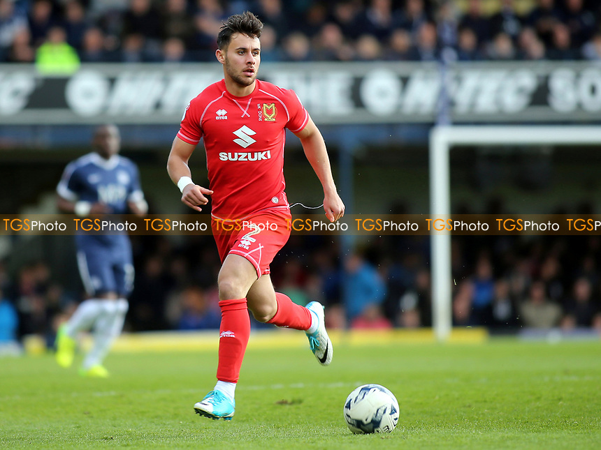 George Baldock of MK Dons in action during Southend United vs MK Dons, Sky Bet EFL League 1 Football at Roots Hall on 17th April 2017