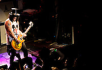 Slash plays Irving Plaza in New York City on May 22, 2012.<br />