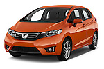 2016 Honda Jazz Elegance 5 Door Hatchback Angular Front stock photos of front three quarter view