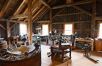 Weston Vermont the famous Old Mill Museum 1780 interior of saw mill upstairs tool shop