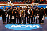 CLEVELAND, OH - MARCH 10: Wartburg celebrates their national championship in the Division III Men's Wrestling Championship held at the Cleveland Public Auditorium on March 10, 2018 in Cleveland, Ohio. (Photo by Jay LaPrete/NCAA Photos via Getty Images)