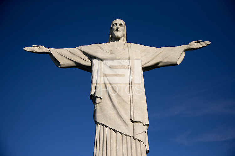 The Cristo Redentor or Christ the Redeemer statue that looks over Rio de Janeiro in Brazil