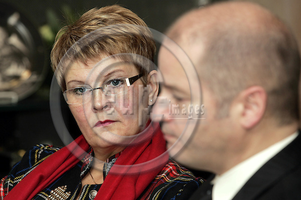 BRUSSELS - BELGIUM - 23 NOVEMBER 2006 --  Odd Roger ENOKSEN (Ri), the Norwegian Minister of Petroleum and Energy with Maud OLOFSSON the Swedish Minister forEnterprise and Energy. -- PHOTO: JUHA ROININEN / EUP-IMAGES