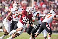 Stanford, CA - November 5, 2016: Solomon Thomas during  the Stanford vs Oregon State game at Stanford Stadium Saturday. <br /> <br /> Stanford won 26-15.