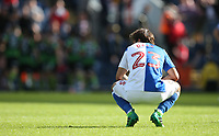 Blackburn Rovers' Bradley Dack shows his dejection as Doncaster Rovers' players celebrate their third goal<br /> <br /> Photographer Stephen White/CameraSport<br /> <br /> The EFL Sky Bet League One - Blackburn Rovers v Doncaster Rovers - Saturday August 12th 2017 - Ewood Park - Blackburn<br /> <br /> World Copyright &copy; 2017 CameraSport. All rights reserved. 43 Linden Ave. Countesthorpe. Leicester. England. LE8 5PG - Tel: +44 (0) 116 277 4147 - admin@camerasport.com - www.camerasport.com