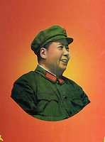 China, Peking (Beijing), Mao-Plakate beim Qianmen